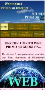 WEBMASTER PRIMO su GOOGLE e PRIMO SU INTERNET - Creare siti web ai primi posti in Italia
