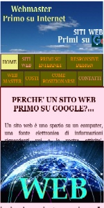 WEBMASTER PRIMO su INTERNET x SITI WEB RESPONSIVE